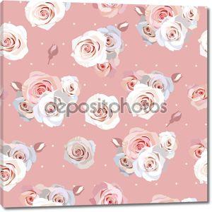 Бесшовные розы фон