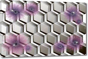 Соты с фиолетовыми цветами