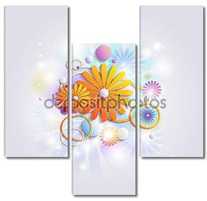 абстрактный фон с цветами