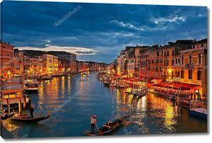 Гранд-канал ночью, Венеция