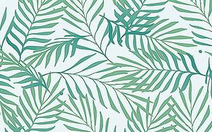 Узор из тонких листьев