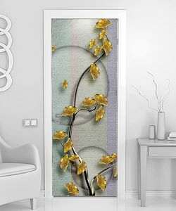 Ветка с  мелкими  желтыми цветами