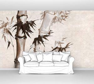 векторная иллюстрация стильного бамбукового фона