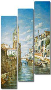 Фреска с солнечной летней Венецией