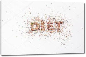 Слово диета из конфет