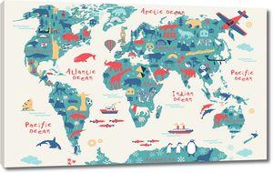 Веселая карта для детей