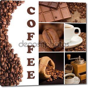 Коллаж из ароматного кофе