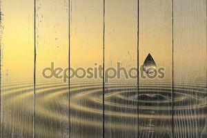 Zen капля падает в воду