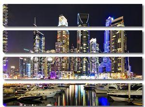 Дубай, ОАЭ -march 10: вид современных небоскребов в Дубай Марина на 10 марта 2013 в Дубае, ОАЭ. Dubai Marina - искусственный канал город, резные вдоль 3-километровый участок Персидского залива береговой линии.