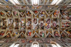 Сикстинская капелла, потолок, Ватикан, Рим