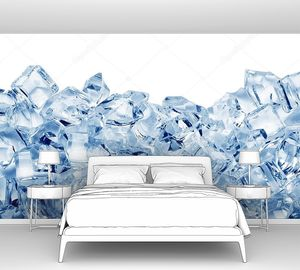Ледяные кубы по нижнему краю