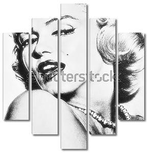 Мэрилин Монро в черно-белом цвете