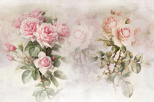Веточки розы с шипами