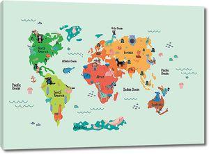 Детская карта на фоне