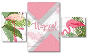 Два фламинго напротив
