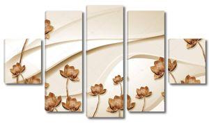 Высокие коричневые водяные лилии