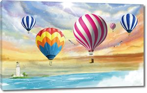 Воздушные шары у маяка