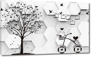 Велосипед и дерево