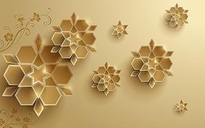 Абстрактные цветы из сот