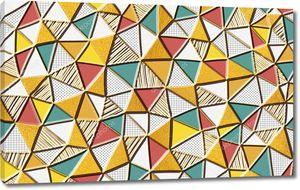 Геометрический узор, мозаика треугольников разных цветов и текстур
