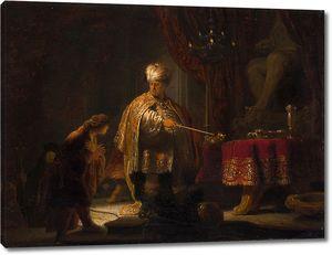 Рембрандт. Даниил и царь Кир у идола Ваала