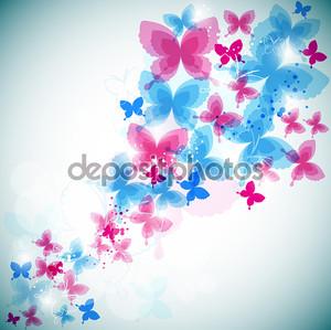 красочный фон с бабочкой