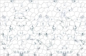 Белый мраморный фон, полигональная плитка