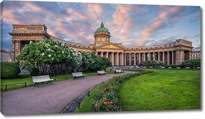 Казанский собор на закате