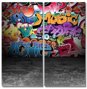 граффити стены городского уличного искусства живопись_