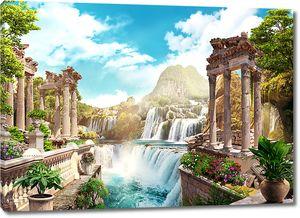 Водопады и античная архитектура
