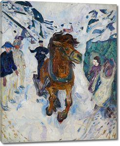 Эдвард Мунк. Лошадь галопом