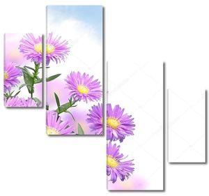 Мать и мачеха фиолетовые цветы