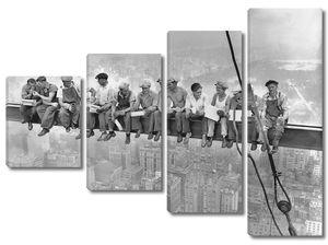 Знаменитая фотография рабочих на стройке небоскеба