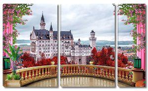 Вид на замок с террасы
