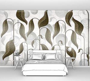 Folium-листья на абстрактном фоне