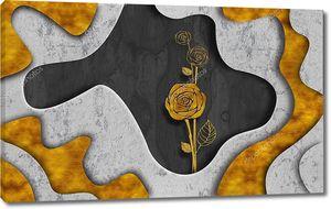 Абстрактный фон, роза в центре