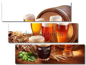 Натюрморт с бочкой пива