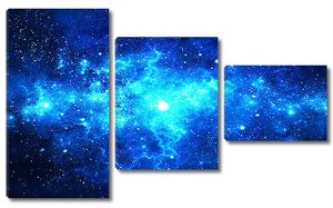 Сияющая синева в космосе