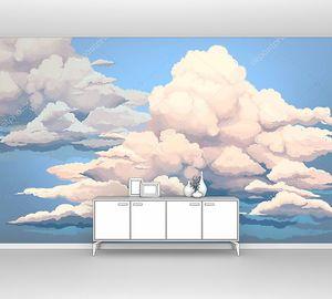 Яркие рисованные облака