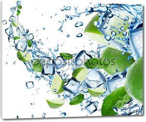 новые лаймы в водном всплеске