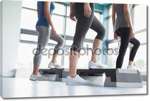 Три женщины в aerobics