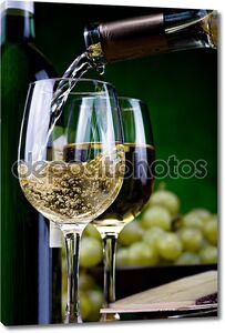белое вино и сыр