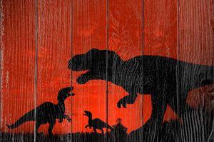 силуэт динозавров