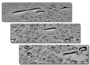 капли воды всплеск на черный пол