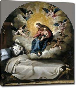 Висенте Кардучо. Явление Богоматери с Младенцем Петру Фаверию