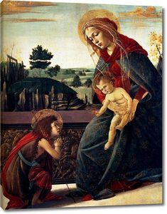 Боттичелли. Мадонна с младенцем и св.Иоанном Креститителем