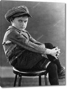 Портрет угрюмого мальчика