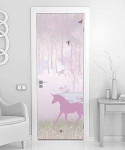 Единороги в розовом лесу