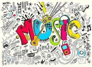 Музыкальный абстрактный фон