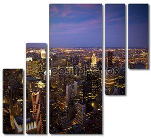 Нью-Йорк Skyline на закате
